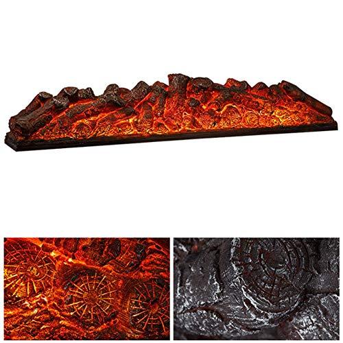 Elektro-Imitat Kamin Heizung mit Realistic Glutbett, Verbesserte Version Elektro-Kamin Protokolle Heizung, führen dekorativer Herd mit simulierten 3D brennender Flamme, Schwarz, 1200x195x250mm dsnmm
