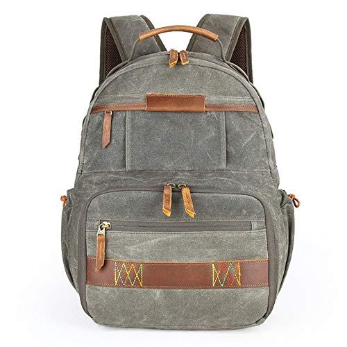SYF&DJN Mode numérique Photographie Toile Sac à Dos Outdoor Camera Bag Voyage SLR Shoulder étanche,Armygreen