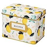 Jot & Mark Recipe Card Complete Gift Box | Decorative Tin Box, Recipe Cards, Index Dividers (24...