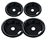 Kitchen Basics 101 Porcelain Drip Pan Set Replacement for Frigidaire Kenmore 5304430150, 318067051,...