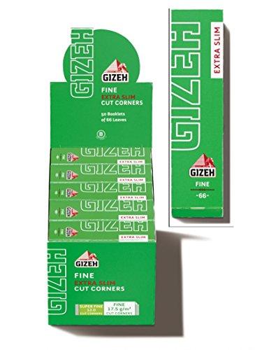 Gizeh cartine fine Extra Slim Cut Corners - 50 Libretti