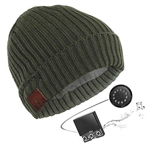 T.M.R.W. Clothing Bluetooth-headset-hoed, multifunctioneel, handsfree bellen voor heren, winter, buiten warm houden van muzikale sporthoed