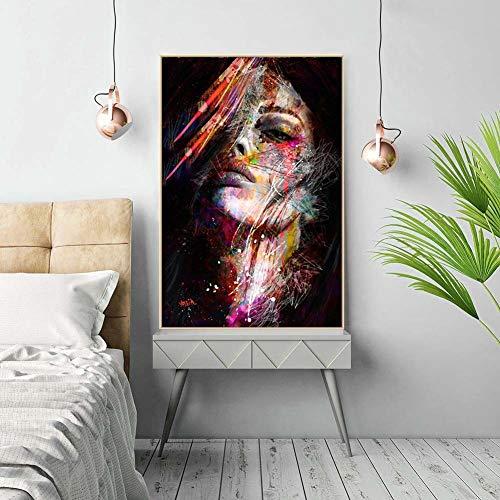adgkitb canvas 60x90cm SIN Marco Carácter Abstracto Decorativo Paintin a4
