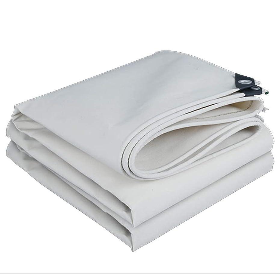 怖がって死ぬスロベニアジョージスティーブンソンFQJYNLY タープリンター防水シートキャンバス耐候性保持温度車のカバーアウトドア、サイズカスタマイズ (Color : White, Size : 3X5m)