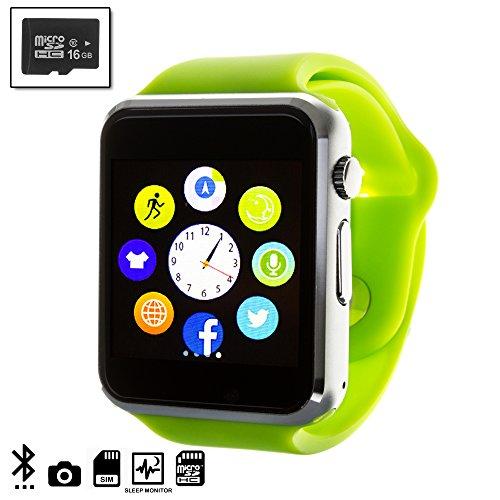 DAM DMQ238SD16 - Smartwatch G08 + Micro SD 16 GB Clase 10, Color Verde