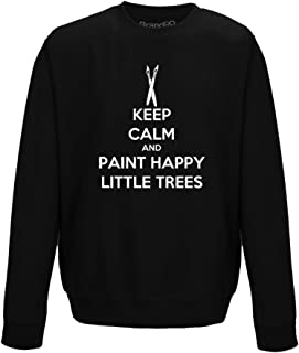 Brand88 - Keep Calm and Paint Happy Little Trees, Adults Sweatshirt