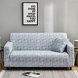 Cubre sillón sofá Elastico,Funda de sofá elástica Patrón elástico Fundas de sofá Totalmente Cerradas Funda de sillón Protector Universal de Muebles Ajustados-3 plazas_Gris