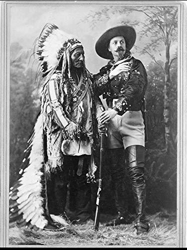Sitting Bull and Buffalo Bill Photograph - Historical Artwork from 1897 - (8.5