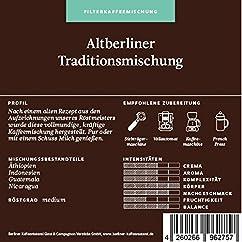 Berliner Kaffeerösterei Altberliner Traditionsmischung