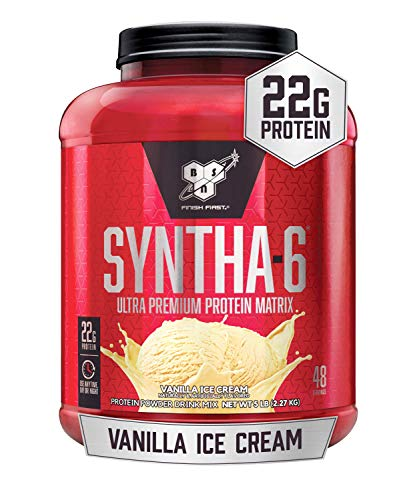 BSN SYNTHA-6 Protein Powder - Vanilla Ice Cream, 5.0 lb (48 Servings)