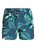 Quiksilver Poolsider 15' - Short De Natación para Hombre Jam/Volley, Hombre, Majolica Blue, S