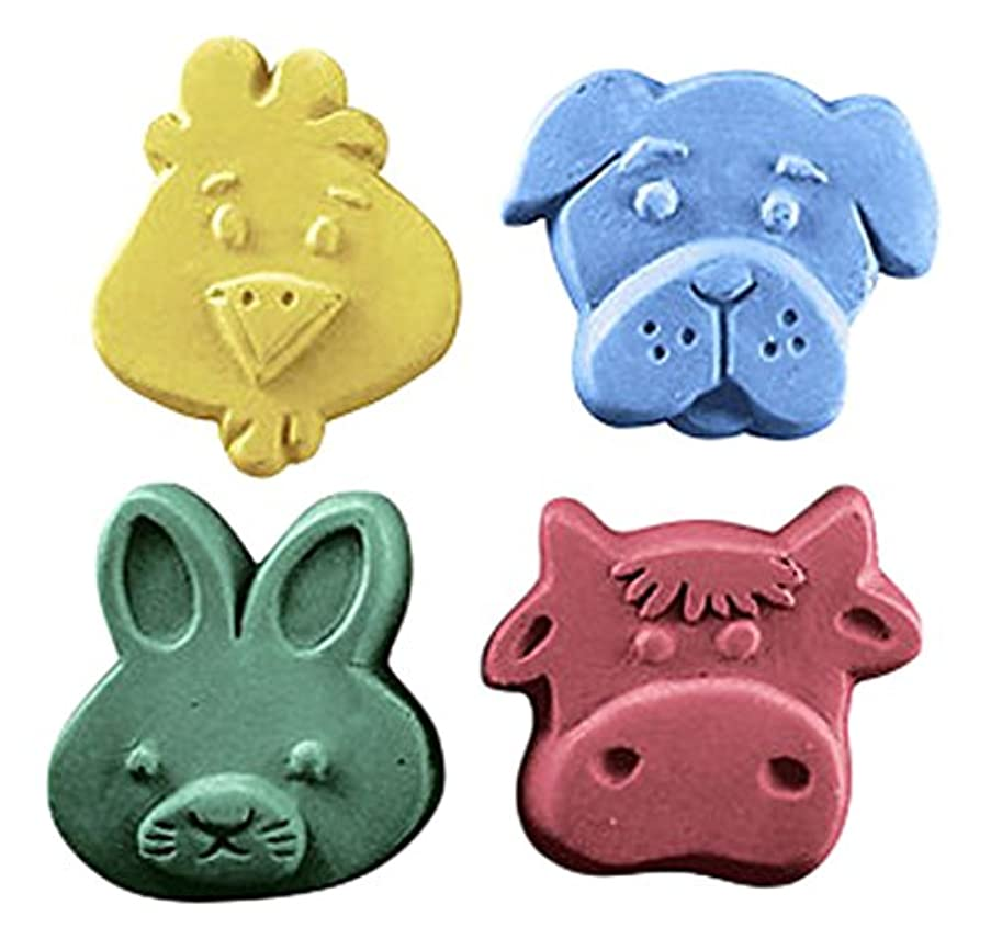 CybrTrayd Rabbit, Dog, Chicken, Cow Guest Mold in Sealed Poly Bag, with Richly Illustrated 44-Page Soap Molder's Guide