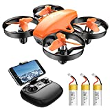 Potensic Mini Drone con 3 Batterie con Telecamera HD, Droni per bambini A20W WiFi FPV RC...