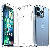TUCCH Funda Compatible con iPhone 13 Pro, Funda de iPhone 13 Pro, Antirayas y Antigolpes, Carcasa Ultrafina TPU Protectora con Protector de Pantalla para iPhone 13 Pro 5G(6.1',2021), Transparente