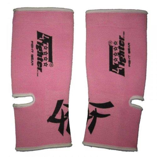 4Fighter Supporto della Caviglia Elastico Rosa con contorni Bianchi, Dimensioni:M/L