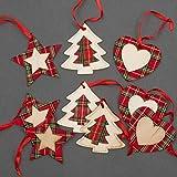 SHATCHI Adornos para árbol de Navidad