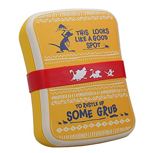 Echte Disney Lion King Timon Grub Bambus Lunch Box Eco Lagerung Lebensmittelbehälter