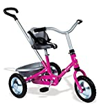 Smoby - 454016 - Zooky Classique - Tricycle avec Canne Amovible - Rose
