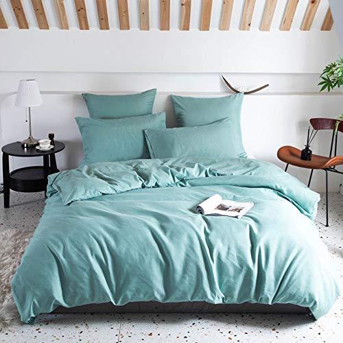 OPOWWEE Ropa de cama de 200 x 220 cm, funda nórdica reversible 100% suave y agradable microfibra +...