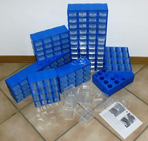 10 Vorratsregale/Kleinteilemagazin/Sortimentskasten a 16 Dosen (160 Schubladen Gesamt)