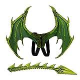 Romote 1 Satz Kinder Fantasie Dragon Wings Kostüm Halloween Dinosaurio Drachen Kostüm Tier...