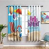 Lifestyle Decor - Cortinas de privacidad para ventana, diseño de playa con diseño de arena, 108 x 84 pulgadas