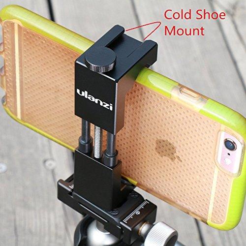 Metall Stativ Handy Halterung mit Hot Shoe Mount Smartphone Stativhalterung Adapter Video Rig für iPhone X 8 7 6s Plus Nexus Samsung by Ulanzi