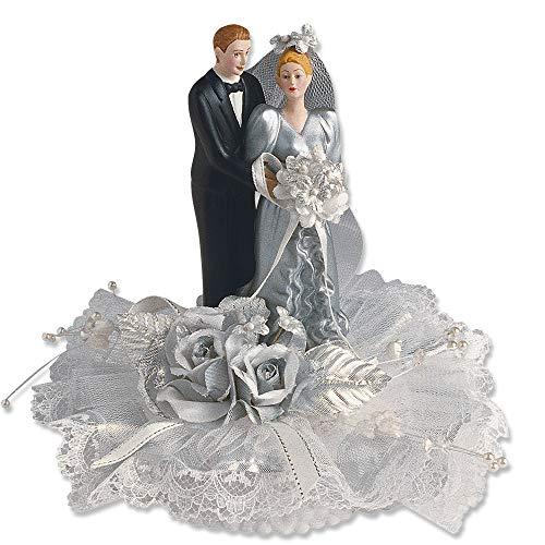 Brautpaar, Tüllrosette, Silberhochzeit