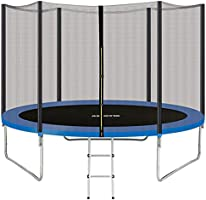 AMGYM Trampolin 244/305 cm Sports Outdoor Gartentrampolin Komplettset inklusive mit Sicherheitsnetz, Leiter,...