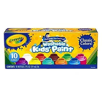 Crayola BIN541205BN Washable Kid s Paint 10 Bottles Per Pack 3 Packs