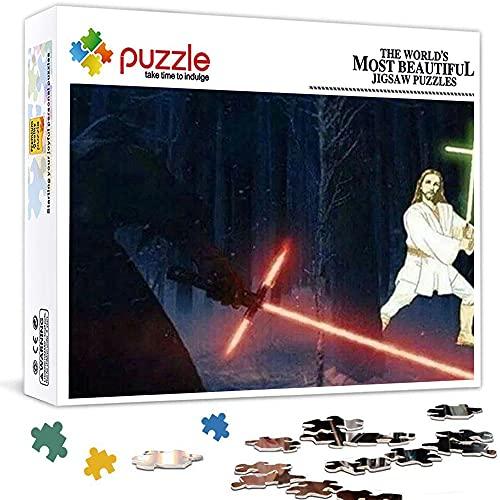 Star Wars Lightsaber Jedi Darth Vader Puzzle 1000 Piezas para Adultos NiñOs Educativo Madera 75x50 CM Arte CláSicos Juego De Rompecabezas Adolescentes Infantil Toda La Familiar Regalos Puzle Creativo