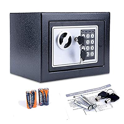BATHWA Digital Electronic Safe Security Box Cabinet Safe with Keypad for Home & Office