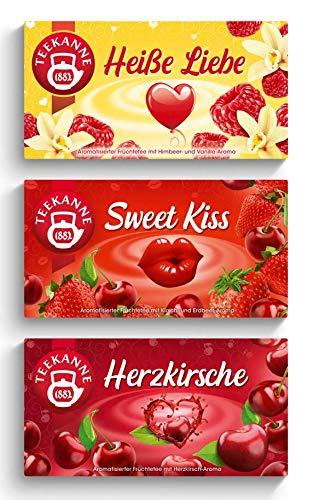 Teekanne Verführerische Früchtetees 3er Set - Herzkirsche, Sweet Kiss, Heiße Liebe (180g)