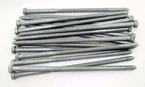 (20) Galvanized Hex Head 1/2 x 14 Lag Bolts Wood Screws