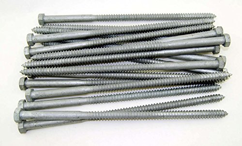 "(20) Galvanized Hex Head 1/2 x 12"" Lag Bolts Wood Screws"