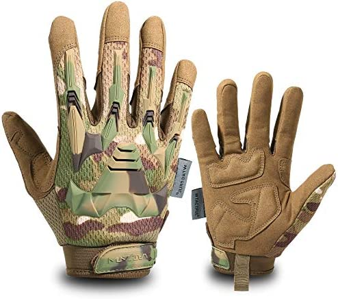 WTACTFUL Rubber Guard Full Finger Tactical Gloves for Airsoft Paintball Hunting Hiking Military product image