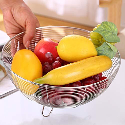 Frutero decorativo de acero inoxidable, cesta, para pan, frutas, aperitivos, caramelos, etc. 3