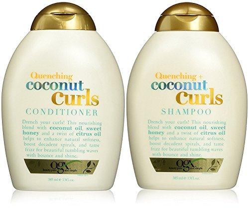 Organix Quenching Plus Coconut Curls Bundle, Shampoo & Conditioner, 13 Ounce Each
