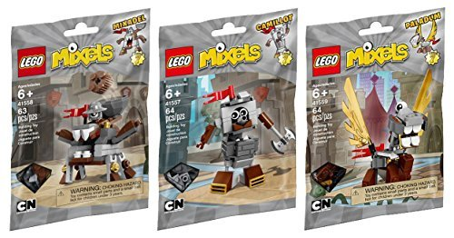 LEGO, Mixels Series 7 Bundle Set of Knights, Camillot (41557), Paladum (41559) and Mixadel (41558) by LEGO
