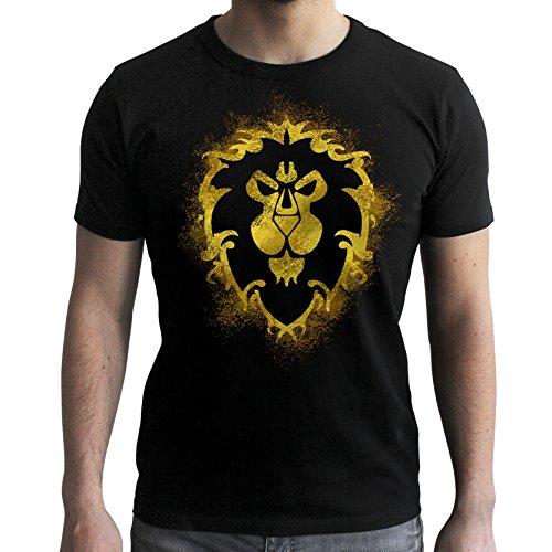 ABYstyle – World of Warcraft – Camiseta – Alianza – Hombres – Negro (XXL)