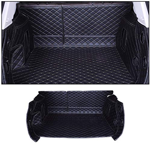 SureMart Custom Car Trunk Mat for Audi A8 2014-2017 3D Full Coverage Cargo Liner Floor Mat All Weather Protection XPE Leather Liner Waterproof Non-Slip Black