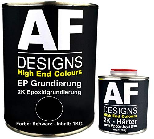 Alex Flittner Designs Epoxidfüller 1,20kg 2K Grundierung Füller EP Füller in schwarz für Autolack Rostschutz