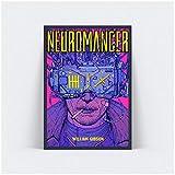 SDGW Neuromancer William Gibson Wandkunst Poster Bild