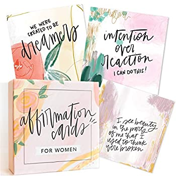 Affirmation Cards for Women  Beautifully Illustrated Inspirational Cards with Positive Affirmations to Help with Gratitude Mindfulness Daily Encouragement and Self Care