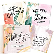 Affirmation Cards for Women: Beautifully Illustrated Inspirational Cards with Positive Affirmations to Help with Gratitude, Mindfulness, Daily Encouragement and Self Care