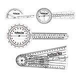 AnthroFlex Set de 4 Goniometros 30cm, 20cm, Dedo, Espinal