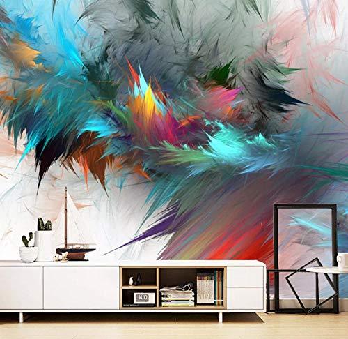 QAQB - Papel Pintado fotográfico 3D con Plumas en C Ful, decoración de Pared