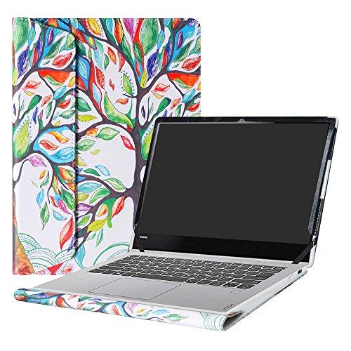 Alapmk Diseñado Especialmente La Funda Protectora de Cuero de PU Para 13.9' Lenovo Yoga 920 920-13ikb/Yoga 910 910-13ikb Ordenador portátil,Love Tree