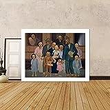 YZBEDSET Arte Mural Tarsila Do Amaral Segunda Classe, 1933 HD Canvasprint Home Decor Pictures 60x90cm