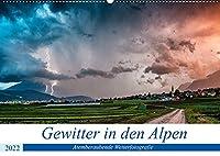 Gewitter in den AlpenAT-Version (Wandkalender 2022 DIN A2 quer): Atemberaubende Gewitterbilder aus den Alpen (Monatskalender, 14 Seiten )